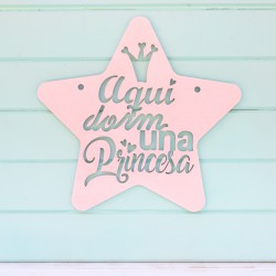 Placa Decorativa Princesa